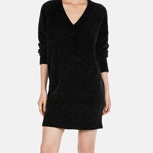Express Large V neck shift sweater dress.